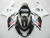 heiße verkleidung großhandel-Heißer verkauf verkleidung kit für suzuki gsxr600 gsxr750 2004 2005 weiß schwarz gsxr 600 750 k4 k5 verkleidungen kj89