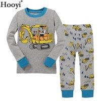 b3dd629556117 Digger Enfants Pyjamas Ensembles Bébé Garçons Vêtements de Nuit Vêtements  Costume Bébé Garçon PJ S Noir T-Shirt + Pantalon 2-Pièces Costume 100% Coton