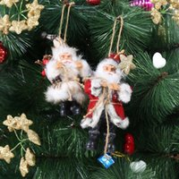 árvore de natal de brinquedo venda por atacado-2017 Natal Papai Noel Boneca de Brinquedo Enfeites de Árvore de Natal Decoração Requintado Para Casa Natal Presente de Ano Novo Y18102609