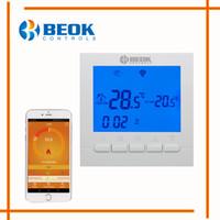 régulateur de température bleu achat en gros de-BEOK BOT-313 WIFI Thermostat de chauffage de chaudière à gaz BlueWhite régulateur de température ambiante Régulateur pour les chaudières hebdomadaire programmable