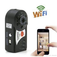 Wholesale webcam ip wifi online - Q7 WiFi Mini Camera Camcorder IP P2P Mini DV Wireless Camera Security Record Camcorder Video Surveillance Webcam Android iOS