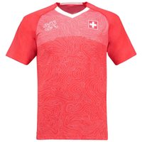 Wholesale wholesale switzerland - DHL Free Shipping Thai A+++ Quality 2018 World Cup Switzerland Jersey Home Red Shirt Cheap Soccer Jersey Stephan Accept Customized Name 2