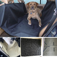 Wholesale nylon car covers - Dog Car Seat Covers Pet Cat Waterproof Car Cushion For Cars Trucks Hammock Convertible Pet Supplies Accessories 145*130cm HH7-1249