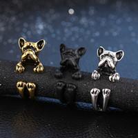 ayarlanabilir hayvan sarma halkaları toptan satış-Moda Ayarlanabilir Yüzük Yavru Köpek Pet Yüzük Hayvan Vintage Wrap Yüzük