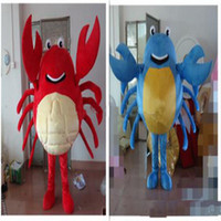 Wholesale Adult Sea Costume - 2018 High quality Crab Mascot Costume Cartoon Character Costume Adult Size Sea Aniaml Crab Cartoon Mascot Christmas Party Costumes