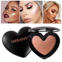 Wholesale beauty control cosmetics for sale - Group buy HANDAIYAN Beauty Makeup Shimmer Highlighter Face Cosmetics Pressed Powder Highlight Palette Brighten Skin Contouring Iluminador Maquiagem