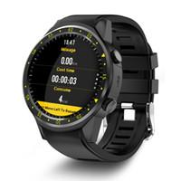 ingrosso braccialetto verde della macchina fotografica-TenFifteen F1 Sport intelligente orologio GPS Watch Phone smart 1.3 pollici MTK2503 doppia fotocamera Beidou frequenza cardiaca / sleep Monito