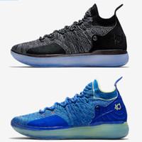 kds basketbol ayakkabıları toptan satış-Yeni 2019 tasarımcı ayakkabı Yakınlaştırma KD 11 Erkekler Basketbol Ayakkabı KDs XI Kevin Durant Açık spor Eğitim Sneakers Fmvp muharebe boyutu abd 7-12