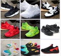 zapatos hombre rodillo al por mayor-Clásico aire Huaraches Ultra transpirable Casual Sports Roller Shoes para hombres y mujeres aire Huarache zapatos Sport Sneakers Eur Tamaño 36-46