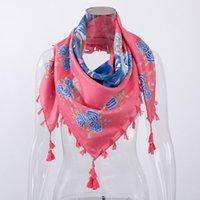 señora de la llegada bufandas al por mayor-Bufanda Fashion Lady 2018 Shawl Impresiones florales Nueva llegada de la belleza de la borla bufanda ocasional
