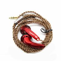 Wholesale plug earphone diy resale online - 100 Newest FENGRU DIY E Bro In ear Flat Head Plug DIY Earphone HiFi Bass Earbuds DJ Earbuds Heavy Bass Sound Quality
