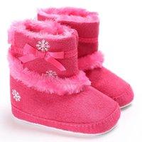 Wholesale Super Thick Girls - Baby Walker Girls Christmas Shoes Princess Children Snowfield Boots Winter Warm Prewalkers Infant Newborn Super Thick Footwears