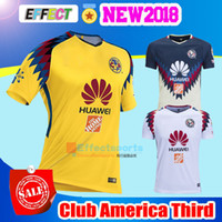 Wholesale Jersey Club America - TOP Quality 2017 2018 LIGA MX Club America soccer Jerseys New home away Third Yellow 17 18 SAMBUEZA Camisetas O.Peralta football shirts