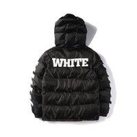 ingrosso camuffamento nero-Europa e Stati Uniti Marchio Tide Stripes nero foderato Camouflage verde cotone cappotto uomini e donne coppie giacca di alta qualità HFBYJK039