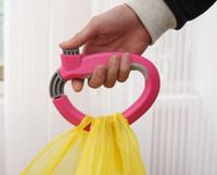 ingrosso acquisti di appendiabiti-Shopping Gancio per borsa di plastica Ganci Borsa per la spesa Borsa per la spesa Strumento portatile per il trasporto Facile da sollevare DDA595 Gadget da esterno