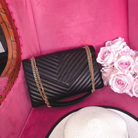 Wholesale large leather bags for women - Free Shipping 32*19CM Fashion Brand design genuine Leather Bag Large Shopping Tote with Gold Hardware for women