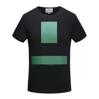 Wholesale Block Shirt - 2018 new arrive fashion Summer luxury designer Brand tshirt classic red green block patchwrok Men casual women t-shirt tee top shirt