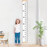 "Wholesale kids growth chart for wall - Baby Growth Chart Handing Ruler Wall Decor for Kids Canvas Removable Height Growth Chart 79"" by 7.9"" baby room wall sticker"