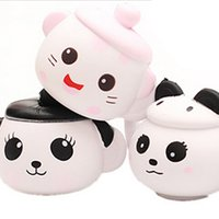 Wholesale Bear Kitty - Panda Bear Kitty Teapot Cup Squishy Slow Rising Jumbo Pig Hamster Cup Doll Soft Scented Straps Cake Bread Fun Kid Toy Gift P15