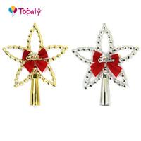 Wholesale Christmas Tree Star Top - Christmas Tree Top Star Christmas Star Topper Merry Ornament Decorative Colorful Tree Decor