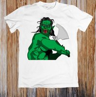 ingrosso fantasia swing-FANTASY ORC SWINGING AX UNISEX T-SHIRT New High Quality 2018 Maglie a manica corta t-shirt Uomo Casual O-Collo O-Collo 100% Cotone