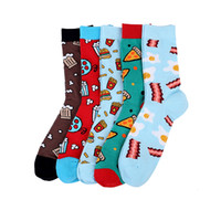 Wholesale sock best resale online - Cute Vpm Style Colorful Combed Cotton Brand Men Crew Socks Dress Business Harajuku Sock Best Gift Pairs