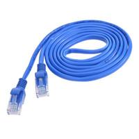 conectores de 8 pines al por mayor-conector de línea 1 / 1.5 / 2/3/5 / 10m CAT5 100 RJ45 Cables Ethernet 8Pin Connector Ethernet Internet Cable de red Cable Wire Line Blue