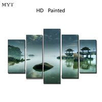 soyut panel tuvali baskılar toptan satış-MYT Yok Çerçeveli Sadece Tuval Yeni Sytle HD Baskılı Duvar Sanatı Soyut Modern Oturma Odası Için Hiçbir Çerçeveli Tuval Yağlıboya