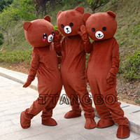 osito de peluche de anime al por mayor-Nueva alta calidad rilakkuma mascota oso de peluche anime traje de la mascota envío gratis