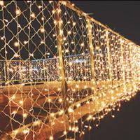 weihnachten twinkle vorhang led lichter großhandel-10m * 2m Guirlande Lumineuse führte Twinkle Beleuchtung 640 LED Vorhang Fairy Lights Weihnachtsbeleuchtung Außenluxus führte Decoracion