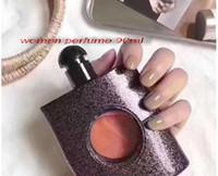 branding parfüm-flasche großhandel-1 stücke Berühmte marke parfüm für frauen 90 ml mit schönen balck flasche guten geruch hoher duft freies einkaufen