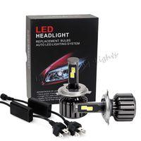 Wholesale H16 Led Light - 48W 24W H1 H3 H4 H7 H11 H16 9005 9006 9007 880 D2S COB LED headlight bulb kit super bright car bulbs