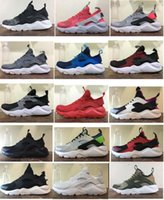 Wholesale Open Toe Lace Up Shoes - New Air Huarache Running Shoes Huaraches Rainbow Ultra Breathe Shoes Mens Womens Huraches Multicolor Hurache Sneakers Sport Trainers box