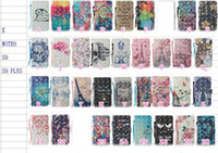 Wholesale Iphone 3d Skull - 3D Dreamcatcher Leather Wallet Case For Iphone X Galaxy S9 Plus Note 8 Butterfly Skull Lace Flower Owl Flip Cover