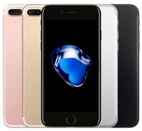 оригинальное четырехъядерное ядро оптовых-Оригинальный Apple iphone 7 7 Plus с отпечатками пальцев 32 ГБ / 128 ГБ IOS10 Quad Core 12.0MP Восстановленное телефон