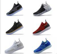 chaussures kd d'orange achat en gros de-Chaussure de basket-ball Elite KD 11 EP pas cher KD 11s Hommes Multicolore Confiture de Pêche Hommes Baskets Doernbecher Kevin Durant