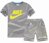 ingrosso vestiti di marca bebe-New Spring Designer T-shirt per bebè Pantaloni Two-piec 2-7T Completi per bambini 2 pezzi per bambini