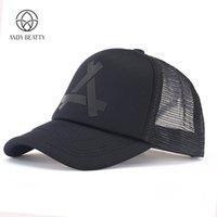 hızlı kurulama kapağı toptan satış-Andybeatty Yaz Beyzbol Kapaklar Erkekler Snapback Nefes Çabuk Kuruyan Örgü Şapka Kadın Güneşlik Caps