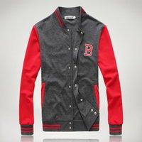 coreano moda masculina jaqueta venda por atacado-Moda Mens Conjuntos de Esporte Fatos de Treino Coreano Estilo Treinos de Beisebol Jaqueta Hoodies Moletons e Calças Cinza Preto M-2XL