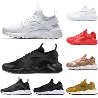 new product 6fcb8 cb318 Air Huarache Chaussures de Course Hommes femmes Triple Blanc Noir rouge  Gris hommes femmes Huaraches formateur sport chaussures Sneakers taille  36-45