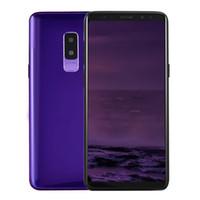 Wholesale iris hd - Real 4G LTE Goophone 9 Plus 6 64-Bit Octa Core 16GB ROM Face ID Iris Android 8.0 6.2 inch Full Screen 18:9 2220*1080 HD 12.0MP Camera Smart