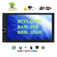 "Wholesale radio nav - Android 7.1 Car Stereo 7"" GPS Car Multimedia Player Octa-core 2GB+32GB GPS Sat Nav Double Din Car Autoradio 1024*600 Resolution Touch Screen"