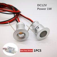 12v außenbeleuchtung großhandel-1W LED Scheinwerfer 15mm Ausschnitt Einbau Raumdekoration Beleuchtung DC12V Home Kitchen Deckenleuchte 30D / 120D Foco Led Exterior 9 PCS