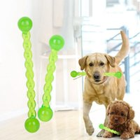 Wholesale Interactive Train - Interactive Dog Teeth Stick TRP Crystal Translucent Tooth Treating Stick Pet Teeth Cleaning Chew Play Training Toy OOA3986
