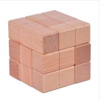 juegos para adultos de calidad al por mayor-Nueva Calidad IQ Wooden Cube Puzzle 3D Mente Rompecabezas Soma Rompecabezas Juego para Adultos Niños