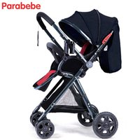 Wholesale tricycles resale online - Baby Cart KG Light Children Stroller Car Baby Travel System Prams Big Rear Wheels Folding Tricycle Cheap Stroller Buy