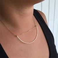 ожерелье ручной круг оптовых-Circle Choker Necklace Handmade Gold Filled Statement Necklace Pendants Bijoux Collier Femme Kolye Collares Collane Jewelry