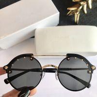 óculos geek venda por atacado-Hot óculos de sol unisex óculos de sol rebite óculos de sol Versace VE4337 retro cor unisex do punk geek estilo limpar óculos de lente VE4337