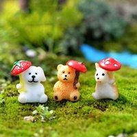 ingrosso ornamenti da giardino animale-Cartoon Animal Dog Hamster Orso Bonsai in miniatura Materiale Moss Terrarium Ornament Micro Landscape Accessories Fairy Garden DIY ZAKKA
