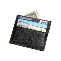 Wholesale Mini Coin Banks - Hot Sale Fashion Casual Wholesale 100% Genuine Leather Comfort Pocket ID Credit Card Bank Card Slim Design Pocket Men's Holder Purse